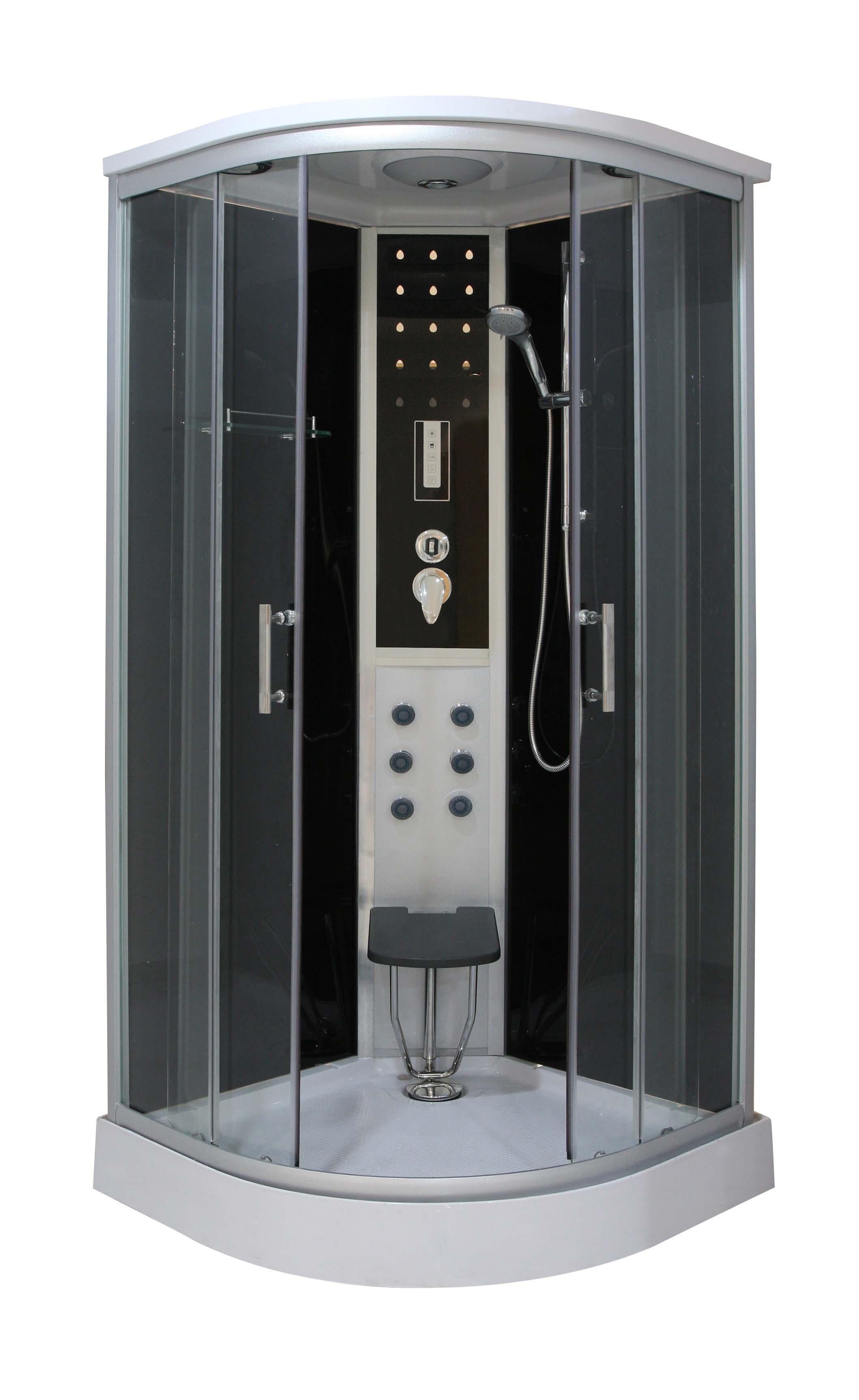 Parna tu kabina sanotechnik relax 90x90x215 ql for Cabina doccia eklis montaggio